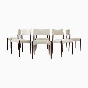 Teak Dining Chairs by Ejner Larsen & Axle Bender-Madsen, 1960s, Set of 6