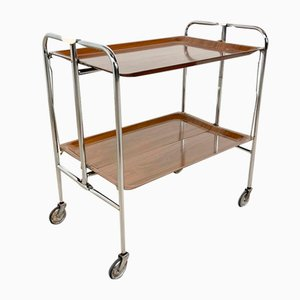 Vintage Mid-Century Foldable Serving Trolley