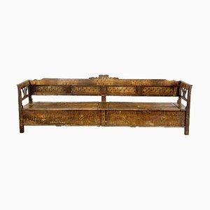 Long Antique Farmhouse Bench
