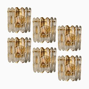Palazzo Wall Light in Gilt Brass and Glass by J. T. Kalmar