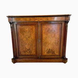 Victorian Inlaid Burr Walnut Side Cabinet