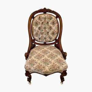 Victorian Carved Walnut Chair