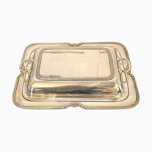 Antique Silver Plated Entrée Dish