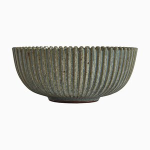 Large Art Deco Stoneware Bowl by Arne Bang for Own Studio, 1930s