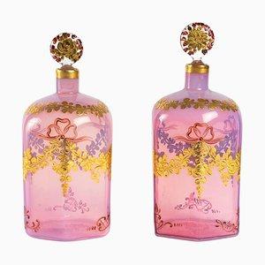 Opaline Bottles by Georges de Pigeon, Set of 2