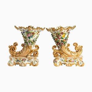 Abundance Tassen aus Old Paris Porzellan, 2er Set