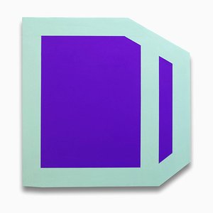 Plumb Purple (Mint), Abstract Painting, 2014