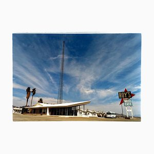 Roy's Motel Route 66, Amboy, California, fotografía en color de paisaje, 2001