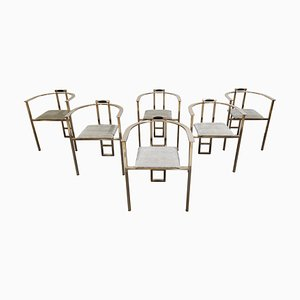 Vintage Dining Chairs from Belgo Chrom, 1980s, Set of 6