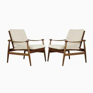 Spade Lounge Chairs by Finn Juhl, Set of 2