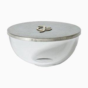 Pewter and Glass Jar from Svenskt Tenn