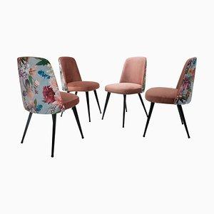 Italian Mid-Century Modern Multicolored Chairs, Italy, 1950s, Set of 4