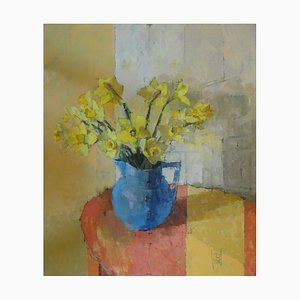 Jill Barthorpe, Daffodils, Still Life Oil Painting, 2020