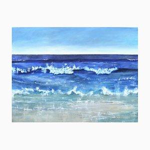 Penny Rumble, Atlantic Blue II: A Seascape, Oil on Canvas, 2019