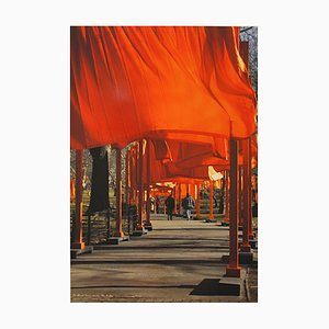 Christo, The Gates New York Central Park, Color Offset on Heavy Paper, 2005
