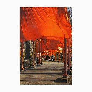 Christo, The Gates New York Central Park, Farboffset auf schwerem Papier, 2005