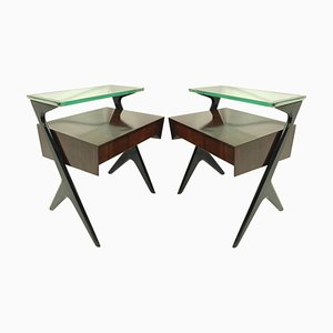 Architectural Night Stands by Ico Parisi, Set of 2