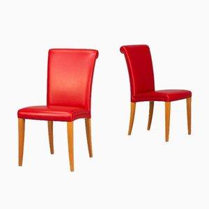 Vittoria Esszimmerstühle von Poltrona Frau, 1990er, 2er Set