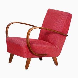 Art Deco Style Red Armchair, Czechia, 1930s