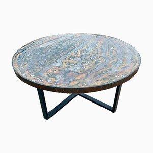 Tavolo in ceramica fatto a mano.
