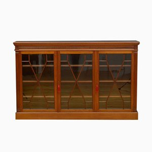 Late Victorian Glazed Bookcase in Walnut
