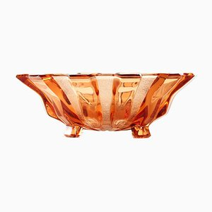 Pink Glass Bowl from Hermanova Hut, Czechoslovakia, 1950s