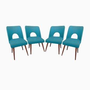 Vintage Shell Chairs by W. Leśniewski for Bydgoszcz, 1960s, Set of 4