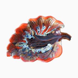 Französischer Keramikteller von Vallauris, 1950er