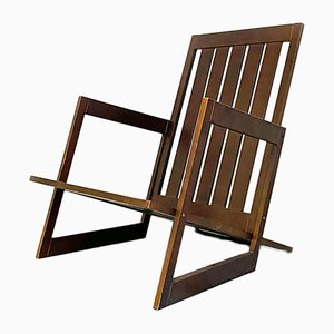 Wooden Armchair with Parallel Salts Structure, 1980s