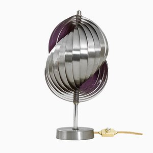 Kinetic Spirals Table Lamp in Steel and Aluminum by Henri Mathieu