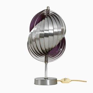 Kinetic Spirals Tischlampe aus Stahl und Aluminium von Henri Mathieu