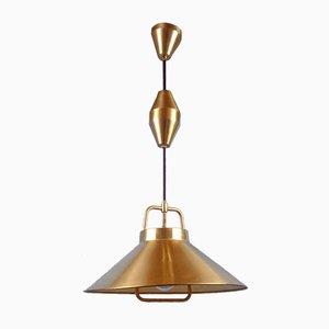 Brass P295 Pendant by Frits Schlegel for Lyfa, Denmark, 1960s