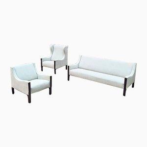 Italian Sofa and Armchairs Set by Tito Agnoli for Mobilia, 1961 , Set of 3