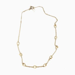 Collar vintage de metal dorado y piedra de Valentino Garavani