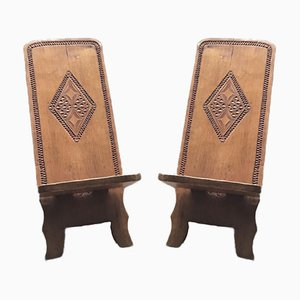 Hand Carved Chair, Cuba, 1960s, Set of 2