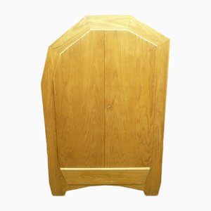Handcrafted Anthroposophical Wardrobe Attributed to Ernst Aisenpreis, 1930s