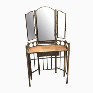 Art Nouveau Dressing Table in Brass, Vienna, 1910s