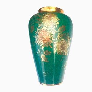 Vase Patricia en Porcelaine Dorée et Peinte à la Main de Alka Kunst, 1960s