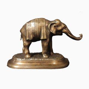 Petit Éléphant en Bronze