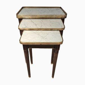 Mesas nido estilo Luis XVI. Juego de 3
