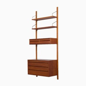 Danish Wall Unit with Chest of Drawers, Console and 2 Shelves by Poul Cadovius, 1960s