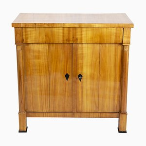 Early 19th Century Biedermeier Cherrywood Half Cabinet or Chest of Drawers