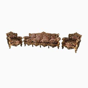 Juego de sillones italianos barrocos. Juego de 3