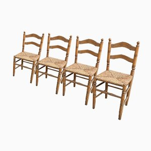 Straw Chairs, Set of 4