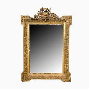 Antiker französischer Napoleon III Spiegel mit vergoldetem Rahmen
