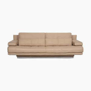 Model 6500 Beige Leather Sofa from Rolf Benz