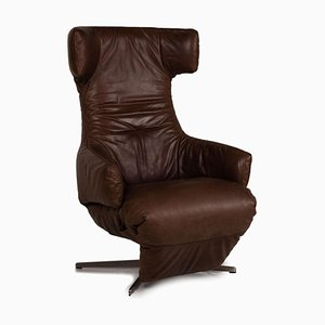 Laola Brown Leather Lounge Chair from Leolux