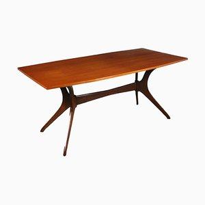 Tisch in Teak Furnier, Italien, 1950er