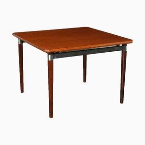 T97 Teak Veneer, Beech & Metal Table by Eugenio Gerli for Tecno, 1960s