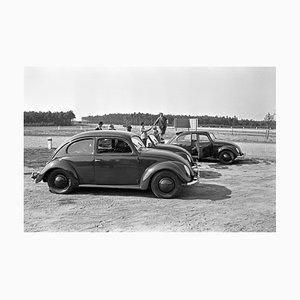 Three Models of the Volkswagen Beetle Parking, Germany, 1938
